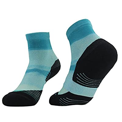 HUSO Unisex Digital Printed Athletic Quarter Running Socks 1,2,3,4,6,11 pairs