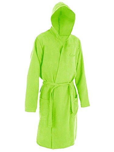 Liabel accappatoio con cappuccio in microfibra uomo/donna art. soffio (XXL, verde)