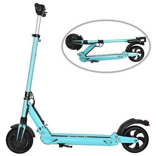 COLORWAY Faltbar City Roller Fahrzeug Klappbar Elektroscooter 350 Watt Motor Bis 30 km/h E Roller Mit Beleuchtung   7.5Ah Akku Erwachsene (blau) (Motor Erwachsene Für Roller)
