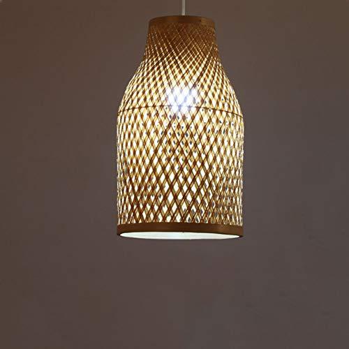 DECORATZ Kronleuchter aus Rattan, kreativ, Vintage, LED, Bambuskunst, einfache Rüstung, Handgewebe, Lampenschirm, Tee, Haus, Allee, Dekoration, Kronleuchter -