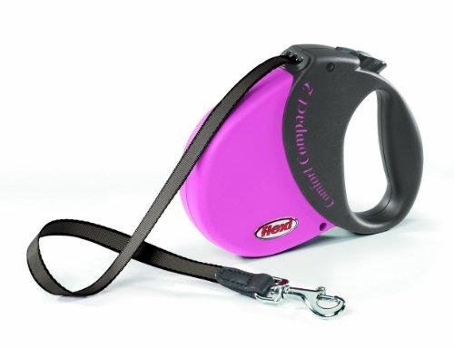 flexi Hundeleine Comfort Compact 2 5 m bis 25 kg, pink-schwarz