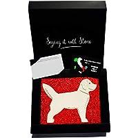 Hund aus Stein - Box und Nachrichtenkarte enthalten - Handgemacht in Italien - Geschenk Geschenkidee Geburtstag Jahrestag Hochzeitstag Hochzeit Männer, Frauen & Freundin