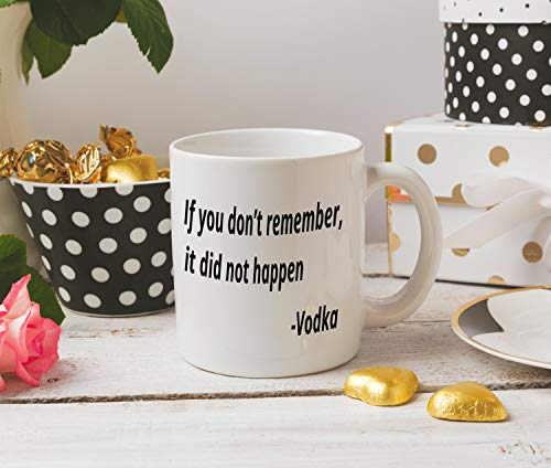 DKISEE If You Don\'t Remember It Did Not Happen Mug Office Mug Funny Mug Work Mug 15 Ounce Ceramic Coffee Mug Tea Cup