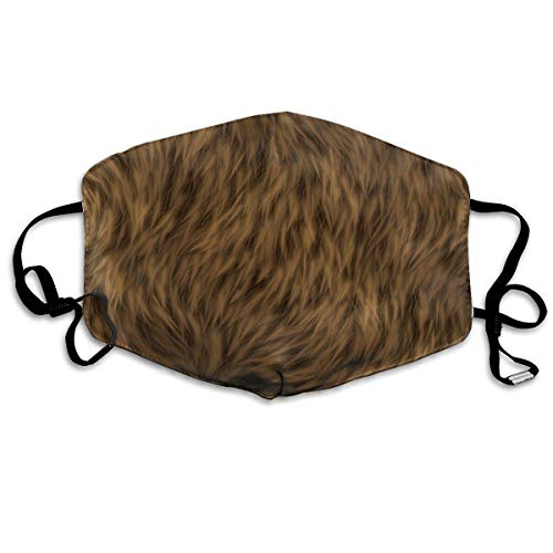 Vbnbvn Unisex Mundmaske,Wiederverwendbar Anti Staub Schutzhülle,Soft Brown Fur Unisex Fashion Mouth-Masks Washable Safety 100% Polyester Comfortable Breathable Health Anti-Dust Half Face Masks -