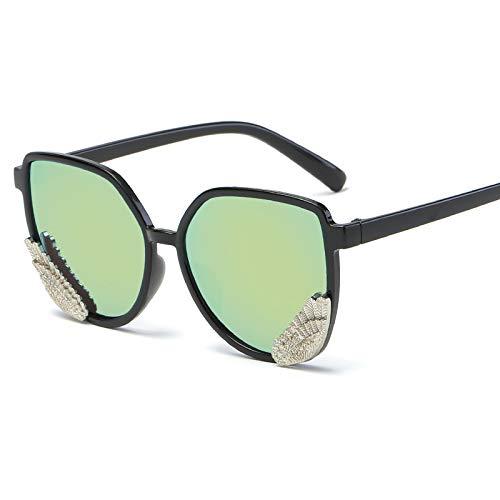Occhiali da sole occhiali da sole ladies donna cappuccio di usura oversize occhiali classici designer occhiali da sole stile di moda nero cornice giallo verde pezzo specchio scatola panno