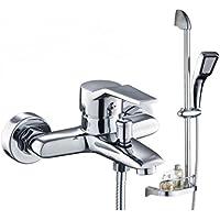 WINZSC Grifo de ducha de cobre para ducha, grifo frío y caliente, boquilla de ducha para mezclar válvula de agua