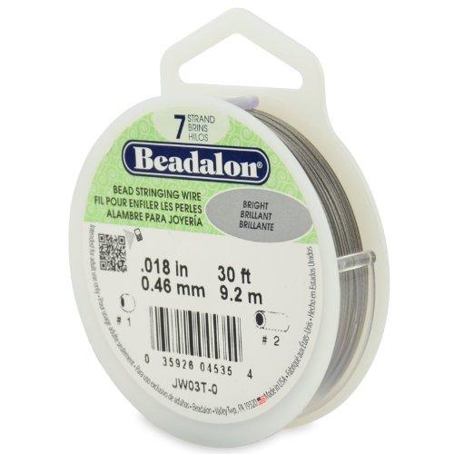 Beadalon 0,46mm Durchmesser 9,2m Reel 7Strand, Bright Schmuckdraht (Beadalon 7 Strang)