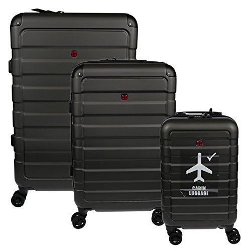 Christian Wippermann 3er Reisekoffer Set Hardcase Spinner Reisegepäck Trolley