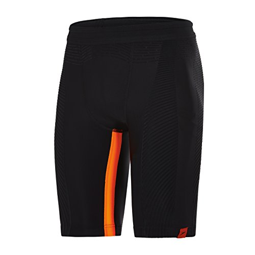 Speedo Herren Fit PowerForm Pro Jammer Speedo Fit PowerForm Pro, Black/Fluo Orange, 5 (Herstellergröße: 34)