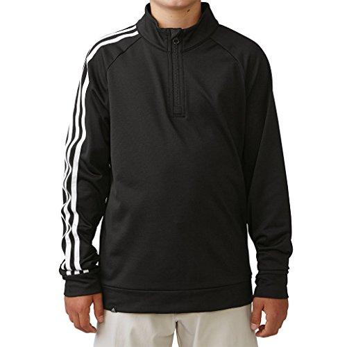 Adidas 1/4 Zip (Adidas 3-Stripe 1/4 Zip BLACK; size:14Y)