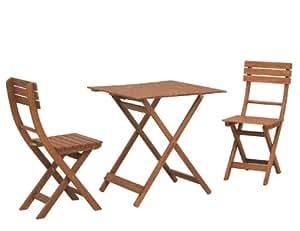 siena garden 657043 balkonset bahamas klappstuhl l 46 x b 38 x h 86 cm tisch l 70. Black Bedroom Furniture Sets. Home Design Ideas