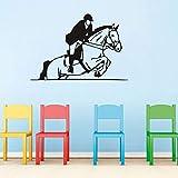 Cheval d'équitation Vinyle Stickers Muraux Design Amovible En Plein Air Sport Autocollant DIY Sticker Mural Pour GYM Teens Garçons chambre SA 57X84cm