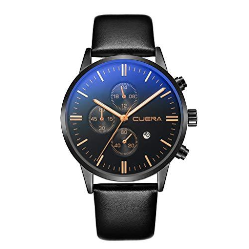 Gürtel Gürtel Kalender Armbanduhr Mode Klassisch Lederband Analoge Led Armbanduhr Unisex Damenuhren Herren-Armbanduhr Kunstleder Herren ()