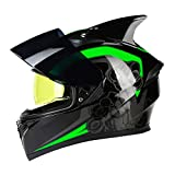Motorradhelm Flip Motocross Helm Motorrad Integralhelm Motorrad Mit Interner Sonnenblende Modular...