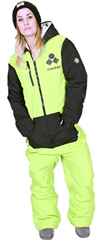 Oneskee Mark III Damen Snowboard Anzug Camouflage Limette W3