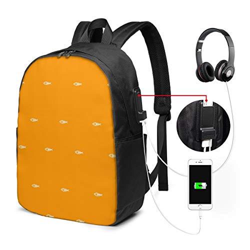 Fishbone Elements Rucksack Rucksack Umhängetaschen Leichte Sporttasche zum Wandern Yoga Gym Schwimmen Travel Beach 17inches -