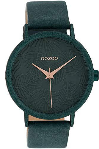 Oozoo Damenuhr Blätter Jade 42 mm C10083