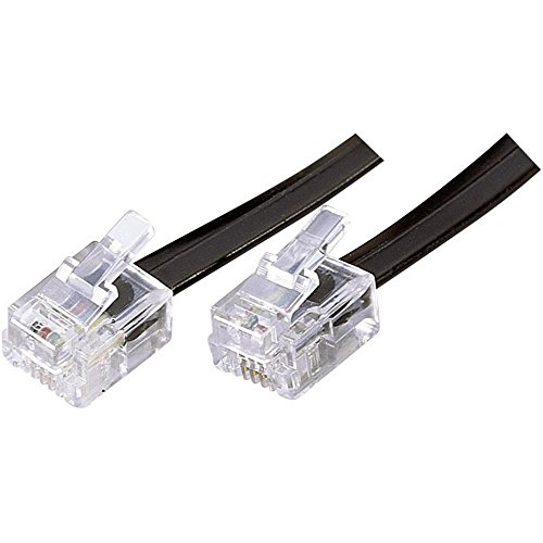 Preisvergleich Produktbild Western Anschlusskabel [1x RJ12-Stecker 6p6c - 1x RJ12-Stecker 6p6c] 6 m Schwarz
