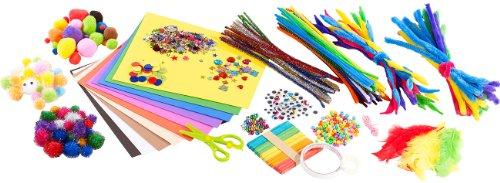 Playtastic Bastelbox für Erwachsene: Jumbo-Bastel-Box, 838 Teile (Bastel Sets) (Aus Fleece Gefärbt)