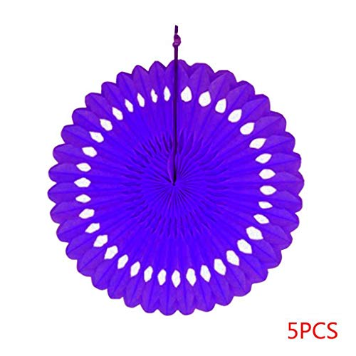 Provide The Best 5pcs 20cm DIY Hanging Tissue Paper Honeycomb Fans  Pinwheels Hollow Paper Flowers Wedding Party Festival Decoration