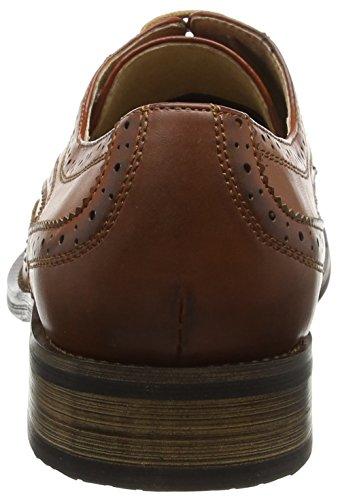 Da uomo 4Occhiello Brogue cravatta scarpe con fodera in pelle Brown