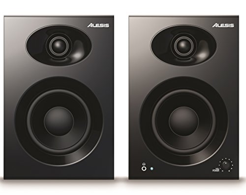Alesis Elevate 4, 2 Stuck aktive Studio Monitore Lautsprecher mit 4 zoll Woofer für Multimedia Studio, PC, Mac