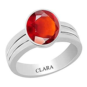 Clara Certified Gomed (Hessonite) 9.3cts or 10.25ratti Stunning Silver Ring-13
