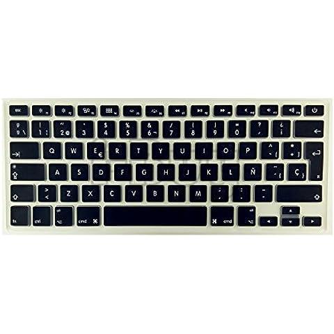 i-Buy La cubierta del teclado de silicona para el MacBook Air&Pro de 13&15 pulgadas[teclado Europea,español]-