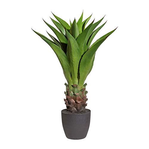wohnfuehlidee Kunstpflanze Agave, Farbe grün, inklusive Kunststoff-Topf, Höhe ca. 80 cm