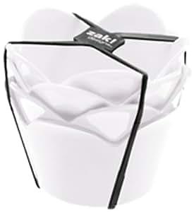 Zak Designs 1313-9990 Rose Set de 4 Coupelles 8 cm Blanc