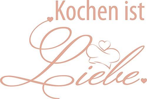 GRAZDesign 620539_57_958 Wandtattoo für Küche | Wand-Spruch Kochen ist Liebe | Küchen-Sprüche für Küchen-Wände und Schränke (85x57cm//958 Baby Doll) (Liebe Baby-doll-tee)