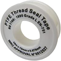 All Trade Direct 1 X Ptfe White Thread Seal Tape 12Mx12Mm Teflon Plumber Plumbing Joint Water Oil