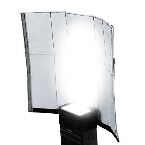 TrueSHOT Soft Box DSLR Blitz Diffusor / Einstellbarer Bounce-Reflektor für GoBo-, Snoot-, und Bounce-Blitzlichtarten für Spiegelreflexkameras wie Canon EOS 750D 700D Nikon D5300 D3300 D7200 und mehr