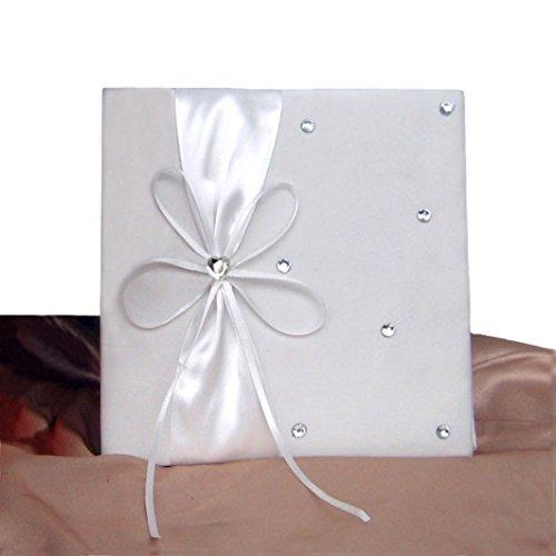 ür Heiratsurkunde, mit Schleife und Strasssteinen, in Geschenkverpackung (Elfenbein), Elfenbeinfarben, 19x18x (Heiratsurkunde)