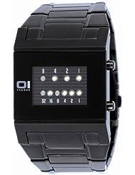 Binary THE ONE KERALA TRANCE KT202W2 - Reloj digital de caballero de cuarzo con correa de acero inoxidable negra - sumergible a 30 metros