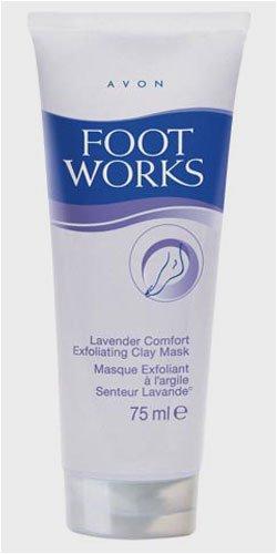 AVON - Foot Works - Exfolierende Tonmaske mit Lavendel für ihre Füße - Fußmaske - Fußpflege - 75 ml -