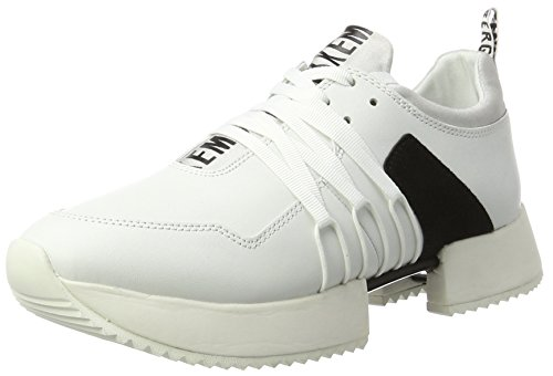 BIKKEMBERGS Damen ODISSEY 060 Low-top, Weiß (White/Black 880), 37 EU