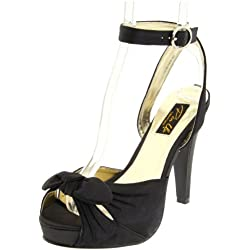 Pinup Couture mujer Bettie aierto sandalias, color Negro