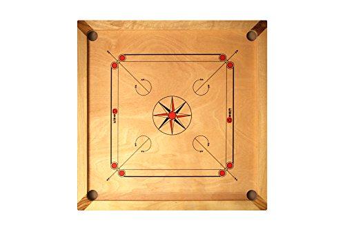 ECO-Holz Carrom Set aus Mangoholz mit Palisander-Details