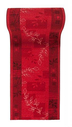 Läufer Teppich Flur - Modern Muster - Rückseite aus Gummi Anti-Rutsch - Kurzfloor Teppichläufer nach Maß -