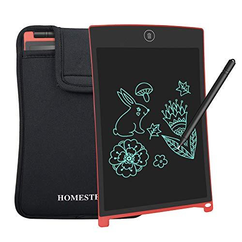 NEWYES Tavoletta Grafica LCD Tablet da Disegno Lavagna Elettronica Scrittura Digitale, Diversi Colori per Bambin, 8.5 Pollici(Rosso+Caso)