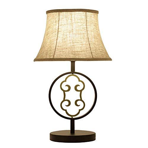 AmzGxp Lámpara de Mesa de luz Ambiente clásico Lámpara de mesita ...