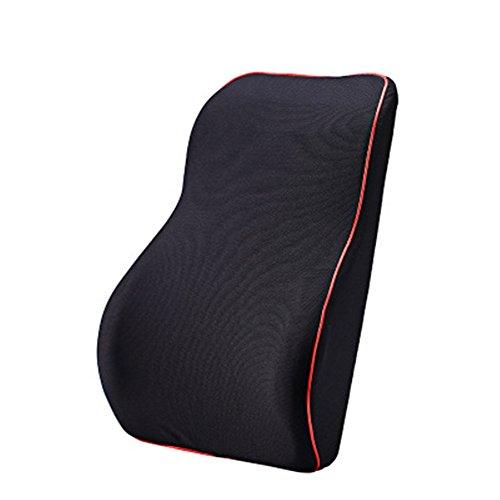 Memory-Schaum für Rückenschmerzen und,Morbuy Rückenkissen Lendenkissen Rückenkissen Lordosekissen Lendenkissen Lordosenstütze (Schwarz)