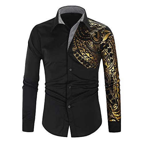 VBWER Herren Freizeit Hemden Shirt Tops Mode Langarmshirts Slim Fit