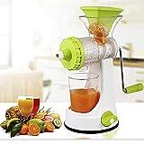 Incredible Hand Manual Fruit Juicer with Steel Handle, Green