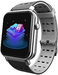 Montre de haute technologie Montre intelligente Bluetooth - Montre intelligente pour téléphones Android, Montre de suivi de la condition physique avec moniteur de sommeil, Montre-compteur pour les hom