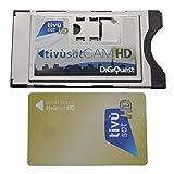 Blaue Version Tivusat SmarCam HD CI Modul inkl. TiVu Aktive Smartcard Karte