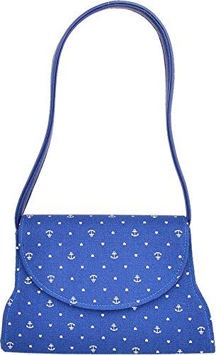 Küstenluder Damen Tasche Janie Anker Heart Handtasche Blau