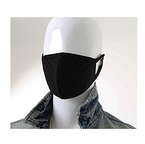 Sassy Pippi Unisexe Masque de bouche en coton pour adultes, Masque à motif - Noir, Fashion Mask 3D-crâne