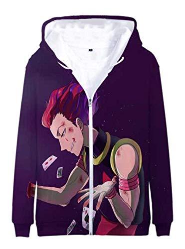 Cosstars Anime Hunter×Hunter 3D Druck Hoodie Jacket Cosplay Kostüm Zip Kapuzenpullover Sweatjacke Outwear Mantel 3 - Gon Cosplay Kostüm